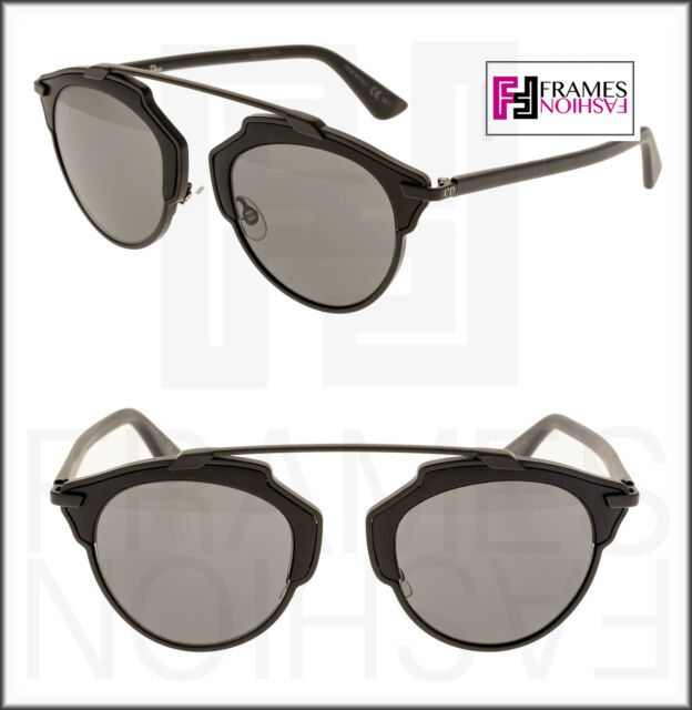 c6677bcf314 CHRISTIAN DIOR SO REAL Matte Black Grey Metal Mirrored Sunglasses DIORSOREAL