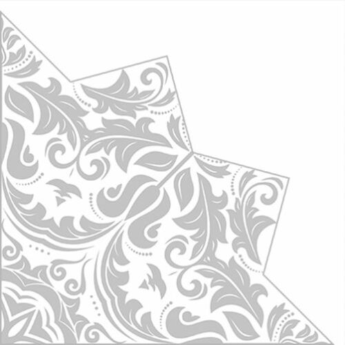 D Christmas 12 Festive Paper Lunch Napkins Silver Luxury MAGIC STAR