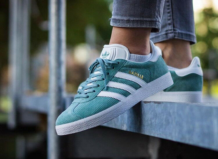Adidas Originals Mens Gazelle Fashion Trainers Vapour Steele BNIBWT Größe UK 10