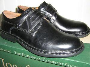 "Josef Seibel /""Vigo 09/"" Black Leather Smart  Comfort Shoe Touch Strap Fastening"