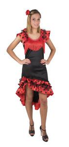 Deguisement Femme Espagnole Costume Adulte Sexy Robe Flamenco