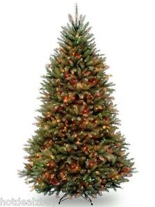 Details About 7 5 Foot Fir Prelit Christmas Tree Multi Color 750 Light Artificial Stand Green