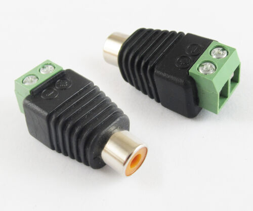 1pc NEW UTP CCTV CAT5 Phono RCA Female Jack to AV Terminal Screw Balun Connector