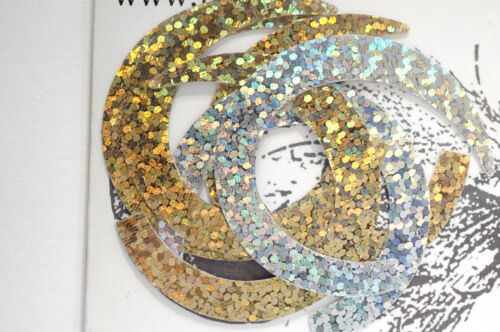 Paolo Pacchiarini´s Wiggle Tails medium Halbmondform 2-Tone HOLO GOLD /& SILVER