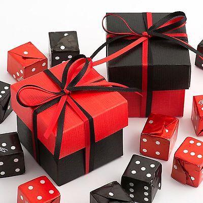 Black & Red Due Tonalità Quadrato Scatole & Coperchi Con Nastri-regalo Di Nozze Favore- Ampia Fornitura E Consegna Rapida