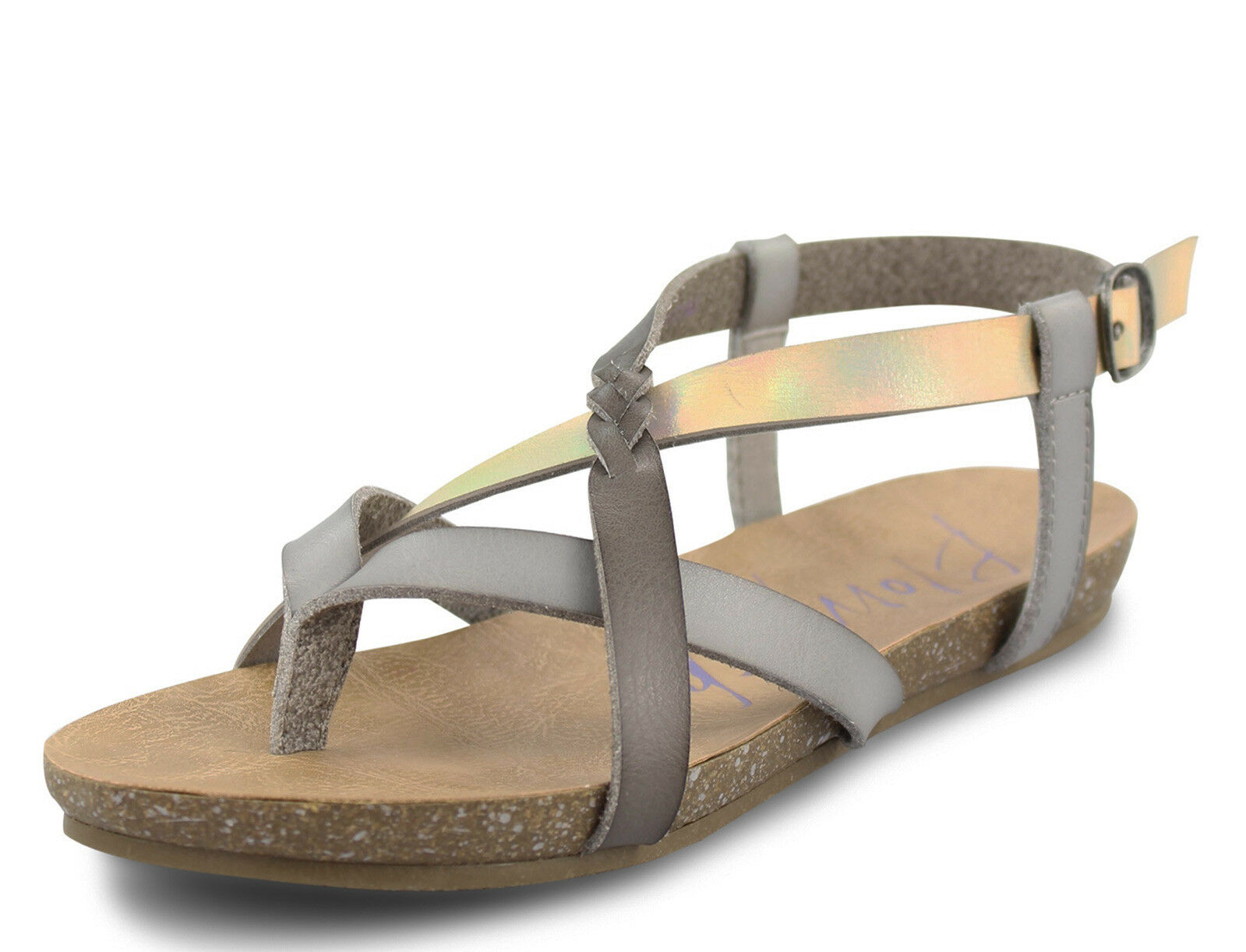 Blowfish NEW Granola B ash lunar street gris argent flat sandals Tailles UK 3-8