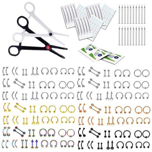 Bodyj4you 200-400pc Professioneller Körper Piercing Set 14g 16g Groß Schmuck-Set