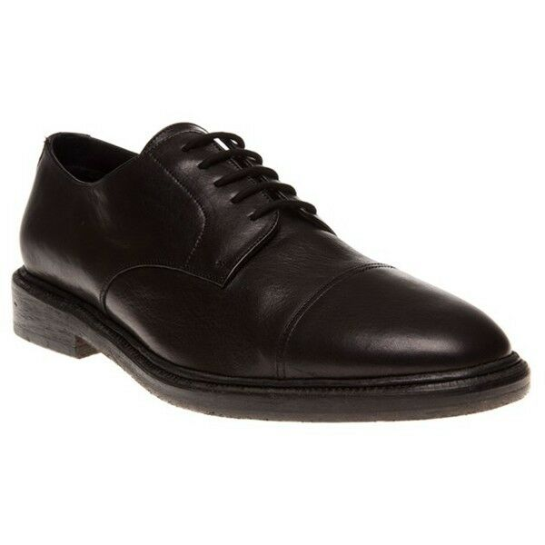 NIB BURBERRY rossoWORTHS DARK Marronee LEATHER LACE UP DERBY OXFORDS 43 10  795 ITALY