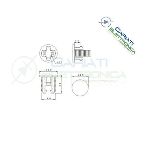 20 PEZZI SUPPORTO PORTA LED 3MM IN ABS PLASTICA NERA