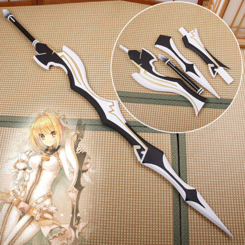 Anime Fate Zero Extra Saber Nero Aestus Estus White Red Sword Cosplay Prop Sword