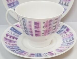Vintage-Shelley-China-Fiord-Cup-and-Saucer-c1945-66-Made-in-England-PN-14280