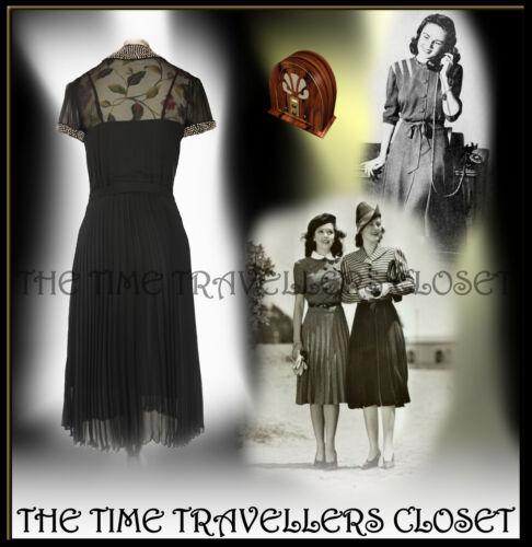 in Vintage media di Kate dagli seta Moss nera '40 Topshop Diamante ai lunghezza anni Abito '30 wxqFHz1qY