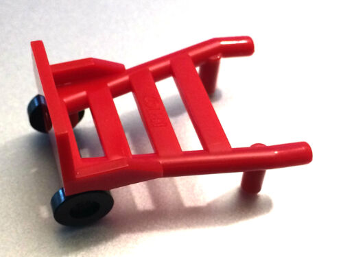 *NEW* 2 PIECES Lego Minifig Utensil HAND TRUCK Red