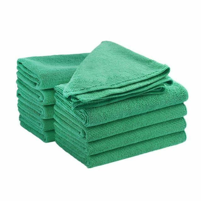 Microfibre Dish Cloth Large Thick Soft Cleaning Towel Pack of 10 Units (10 GH3G8