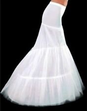 2 Hoop Fishtail Mermaid Bridal Wedding Petticoat Underskirt Crinoline Prom Dress