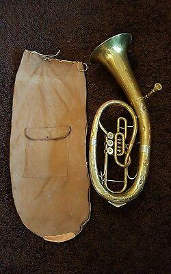 B & S Bass Tuba Horn 5/2 Mundstück Markneukirchen Klingenthal 3 Ventile Messing