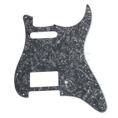 black pearl guitar pickguard for fender strat parts hs humbucker single 3 ply ebay. Black Bedroom Furniture Sets. Home Design Ideas