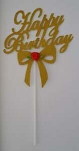 HAPPY-BIRTHDAY-CAKE-TOPPER-GOLD-GLITTER-CAKE-TOPPER-RED-ROSE