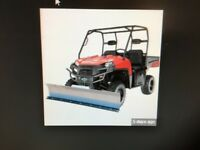 Kfi 72 Utv Snow Plow Kit Polaris Ranger 500 Full-size 2x4 01-08