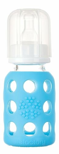 Lifefactory Glass Baby Bottle w//Protective Silicone Sleeve 15 Colors 2 Sizes