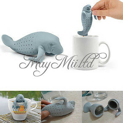 Manatee Infuser Silicone Loose Tea Leaf Strainer Herbal Filter Diff user Spice H