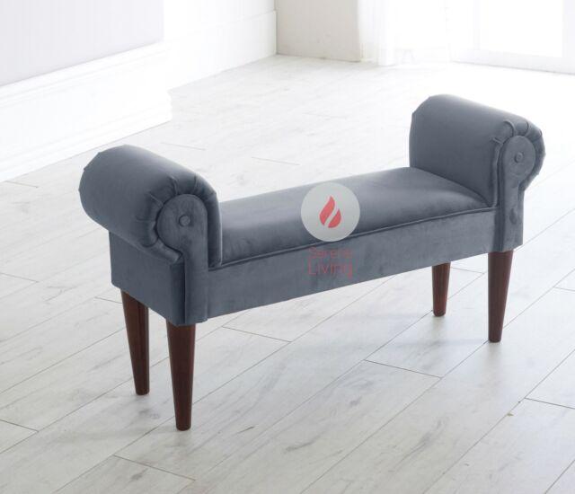 Tremendous Plush Velvet Chaise Lounge Style Sofa Window Hallway Seat Bench Modern Stylish Theyellowbook Wood Chair Design Ideas Theyellowbookinfo