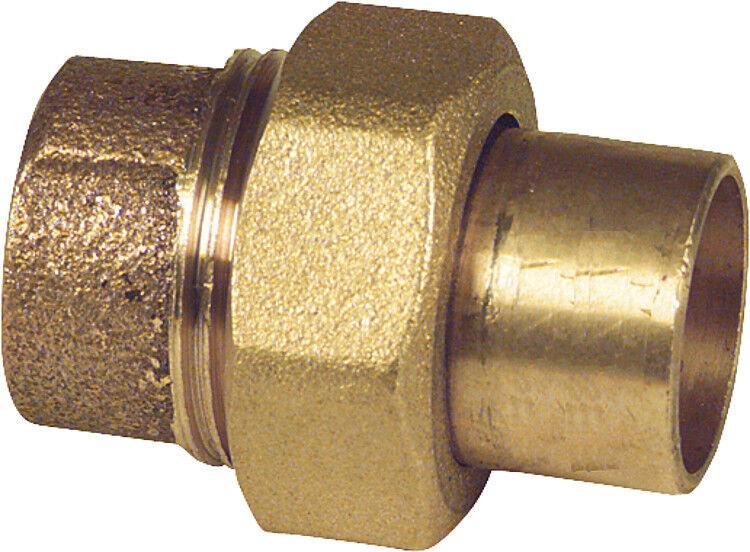 Rotguss Verschraubung flachdichtend 12 15 18 22 28 35 42 mm Lötfitting löten