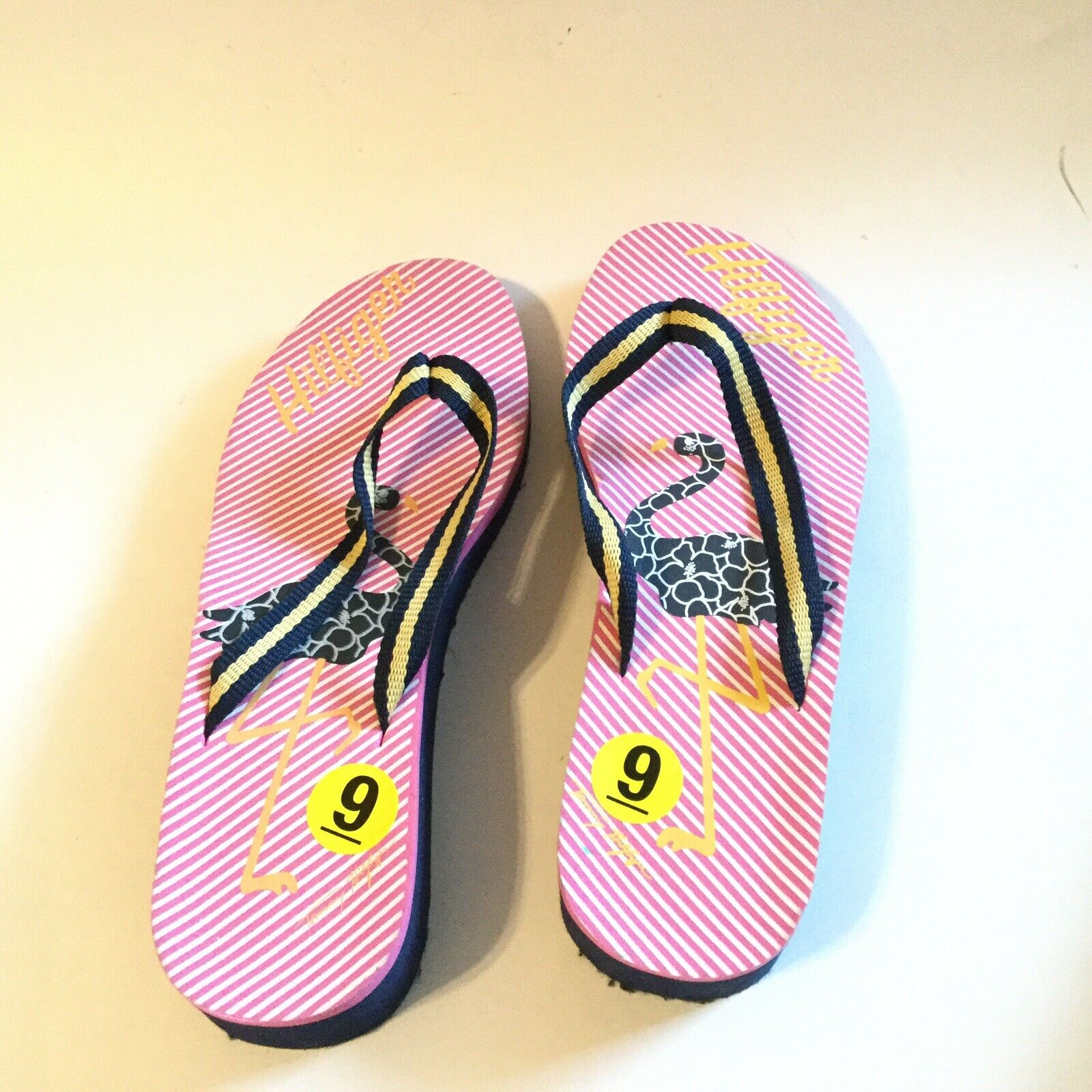 Tommy Hilfiger Women Size 9 Flip Flop Pink Navy S… - image 7