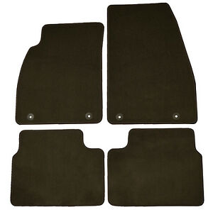 Set Of 4 Factory Oem Cocoa Brown Floor Mats Carpeted Front