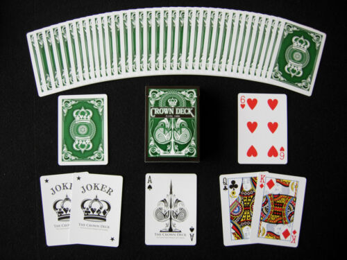 CROWN GREEN DECK OF PLAYING CARDS USPCC BICYCLE LIMITED MAGIC TRICKS COLLECTOR