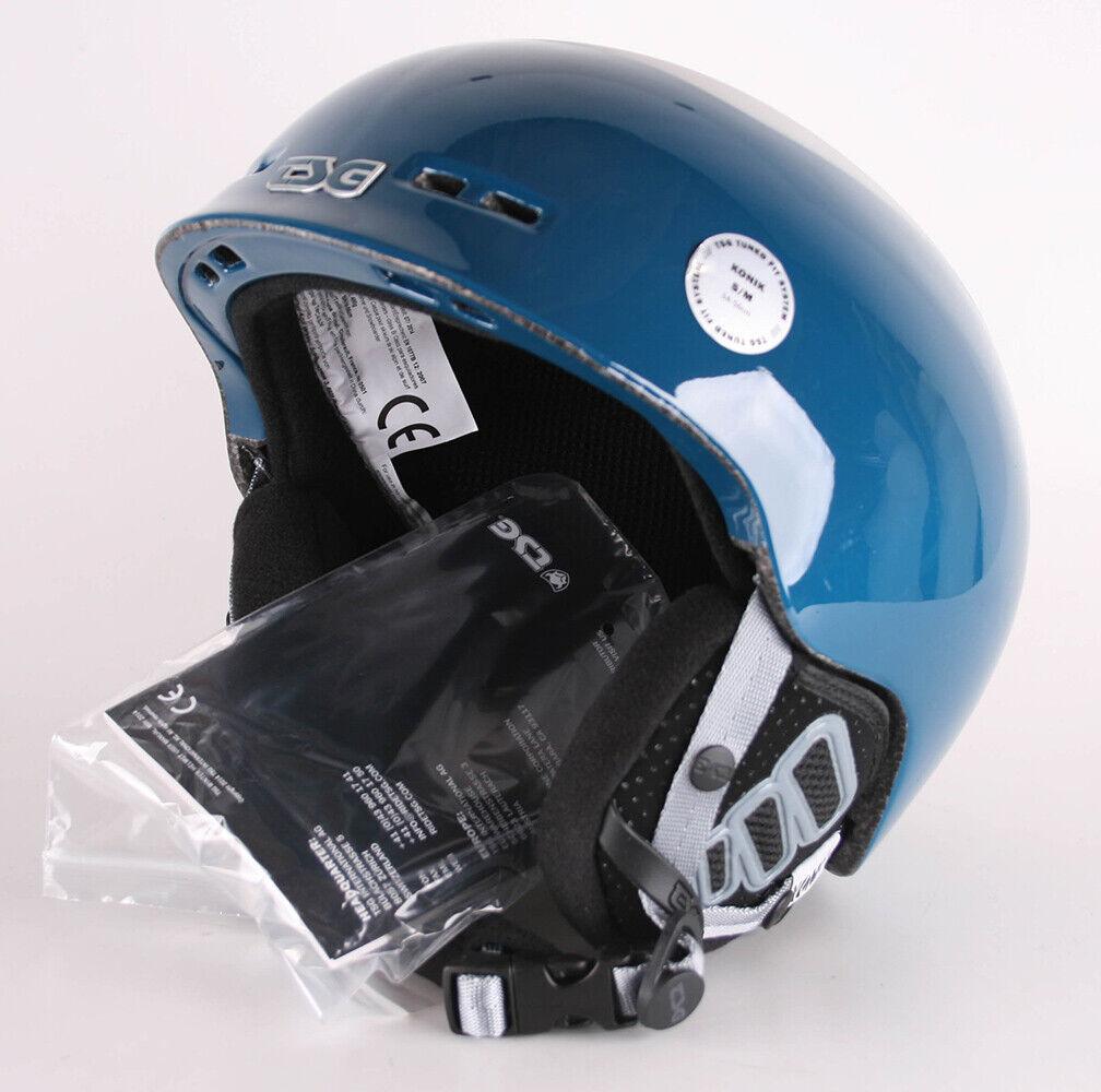 TSG Casco de Snowboard Konik Solid Color Gloss azul gris S M 54-56 cm Esquí