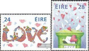 Irland-640-641-kompl-Ausg-postfrisch-1988-Valentinstag