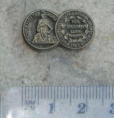 Gut Ausgebildete Medaille 1893 Messingornament Buchbinden Prägestempel Buchbinder Blindprägen Modern Und Elegant In Mode