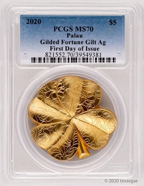 2020 1 Oz Silver Palau $5 OUNCE OF LUCK Coin.