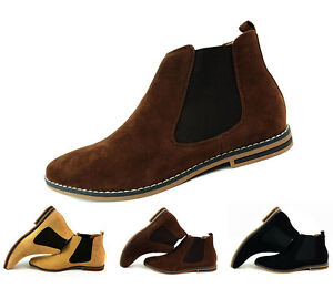 sneakers for cheap great discount for detailing Details about Mens Faux Suede Chelsea Boots Italian Style Casual Western  Slip On Ankle Shoes
