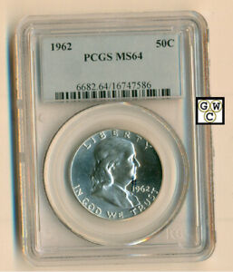 USA-1962-50cents-Coin-PCGS-Graded-MS64