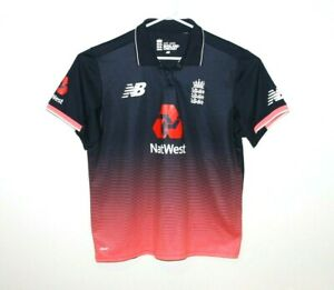 England-Cricket-Polo-Shirt-New-Balance-Rare-Size-Men-039-s-Small