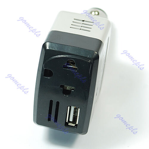 New Car Auto Charger Adapter DC 12V To AC Converter 220V Charger Power With USB