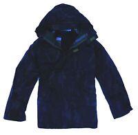LADIES WATERPROOF WINDPROOF JACKET navy blue hooded coat sailing hiking S - XXL