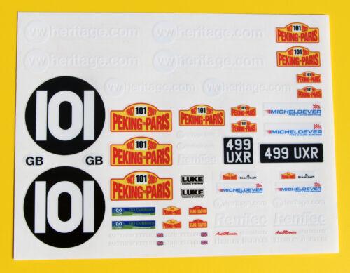 RC Vintage /'Peking Paris/' VW Beetle Decals stickers  BAJA Scorcher