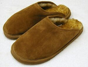 Details About Men Sheepskin Shearling Scuff Shoes Slipper Slide Moccasins Medium D M