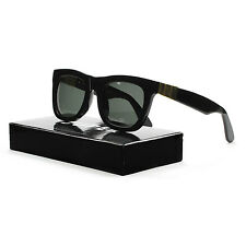 RETROSUPERFUTURE Super Ciccio Gianni Sunglasses 87A Black & Gold / Zeiss Lenses