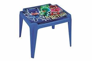 Détails sur PJ-Masques enfants bleu en plastique de table pour intérieur &  extérieur, jardin Picnics- afficher le titre d\'origine
