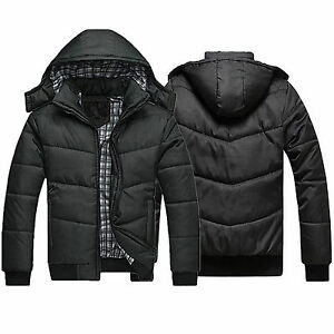 Men-039-s-Winter-Padded-Down-Coat-Slim-Thicken-Casual-Hooded-Outerwear-Parka-Jacket