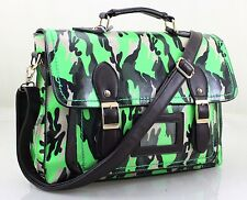 Unisex Camouflage Cross Body Satchel Shoulder School College Messenger Handbag