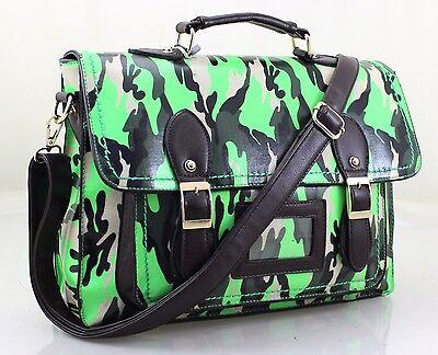 Unisex Camouflage Cross Body Satchel Shoulder School College Messenger Handbag
