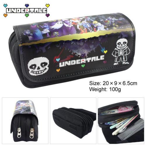 Undertale Pen Case Pencil Case Double layer Large capacity Cartoon pen Bag Gift