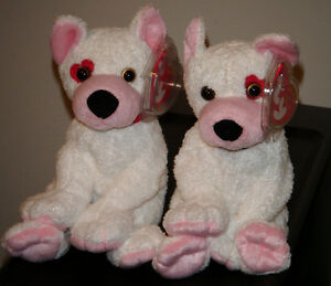 b6ea640dc91 Ty Beanie Baby Set of 2~ CUPID the Dog (Left   Right Eye Versions ...