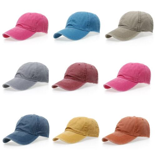 Unisex Washed  Baseball Cap Hip-Hop Snapback Hat Adjustable Trucker Bboy Cap