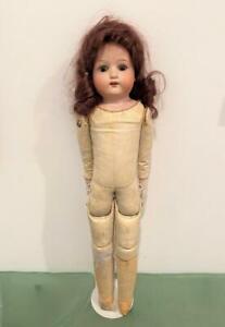 Heubach-Koppelsdorf-Germany-Antique-Bisque-275-9-0-Doll-17-034-Kidskin-Real-Hair